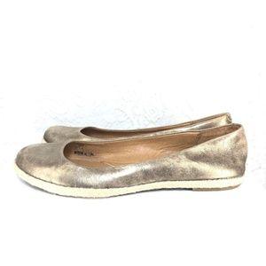 B54 Fossil Metallic Gold Womens Ballet Shoe Sz 8.5